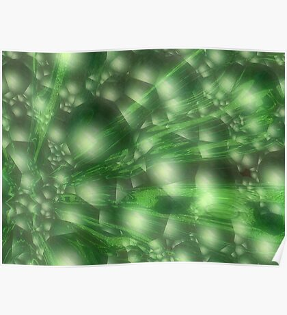 Lush Green After Glow by Elisabeth and Barry King™ Poster