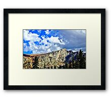 Sharp Rock Ridge Framed Print