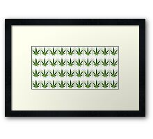 Marijuana Leaf Background Framed Print