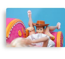 Woody Muff Diving Canvas Print