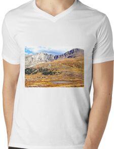 High Tundra Lake in the Rockies Mens V-Neck T-Shirt