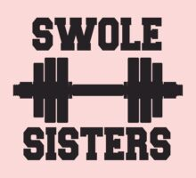 Swole Sisters Black Ink - Women's Workout Tee. Crossfit Tee. Exercise Tee. Running Tee. Fitness by Max Effort