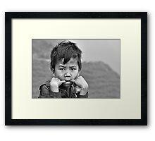 Mountain boy... Framed Print