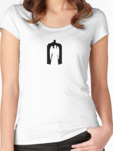 Weeping Angel with Tardis Women's Fitted Scoop T-Shirt