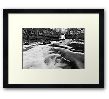 West Burton Waterfalls (B&W) Framed Print