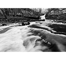 West Burton Waterfalls (B&W) Photographic Print