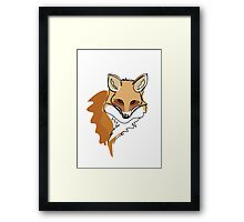 An illustration of a fox Framed Print