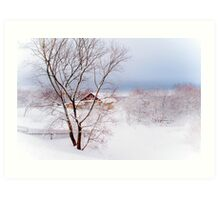 Village under the Snow. Russia Art Print