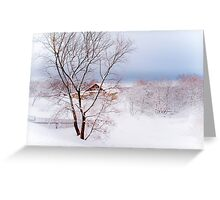 Village under the Snow. Russia Greeting Card