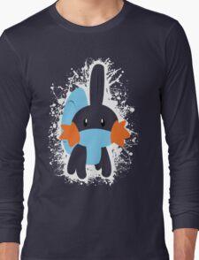Mudkip Splatter Long Sleeve T-Shirt