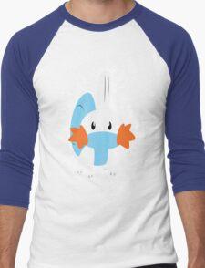 Mudkip Splatter Men's Baseball ¾ T-Shirt