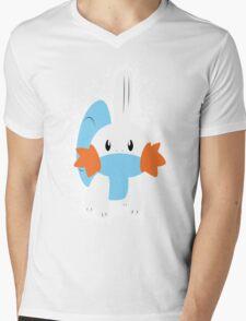 Mudkip Splatter Mens V-Neck T-Shirt