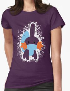 Mudkip Splatter Womens Fitted T-Shirt