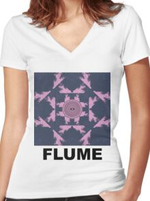 Flume - Album Cover.  Women's Fitted V-Neck T-Shirt