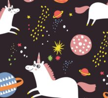 Space unicorns Sticker