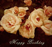 Cream Roses by bellecards