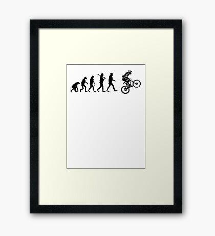 Biker Evolution Framed Print