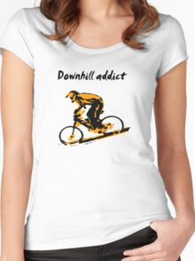 Downhill Addiction Women's Fitted Scoop T-Shirt