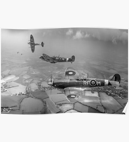 Spitfire fighter sweep Poster