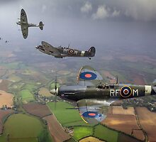 Spitfire fighter sweep by Gary Eason