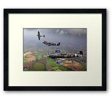 Spitfire fighter sweep Framed Print