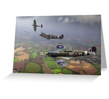 Spitfire fighter sweep Greeting Card