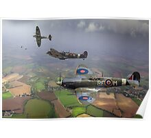 Spitfire fighter sweep Poster