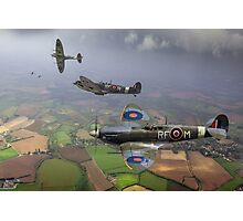 Spitfire fighter sweep Photographic Print