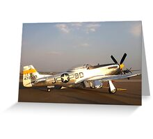 P-51 Mustang Fighter Plane Greeting Card