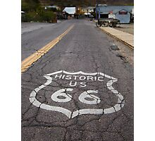 Route 66 road shield, Oatman, AZ Photographic Print