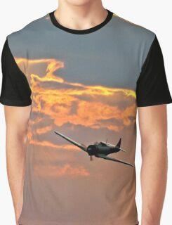 Japanese Zero Fighter Plane at Sunset Graphic T-Shirt