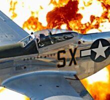 P-51 Mustang Sky Warrior Sticker