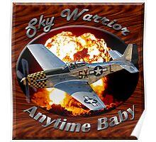 P-51 Mustang Sky Warrior Poster