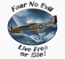 P-51 Mustang Fear No Evil Kids Clothes