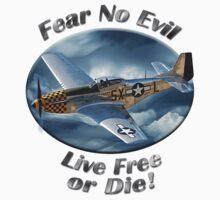 P-51 Mustang Fear No Evil Kids Tee