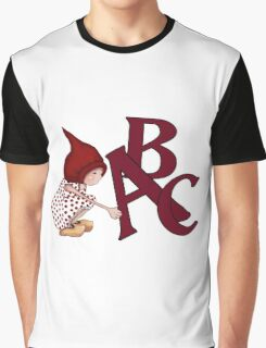 ABC's, Gnome Girl With Alphabet Letter, Children Graphic T-Shirt