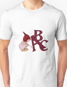 ABC's, Gnome Girl With Alphabet Letter, Children T-Shirt