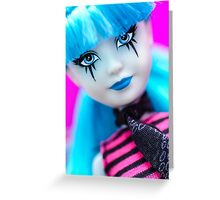 Punk Gothic Doll Greeting Card