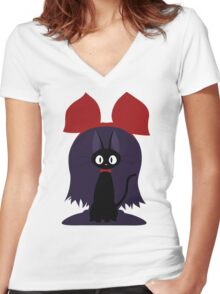 Kiki and Jiji In Detail Women's Fitted V-Neck T-Shirt