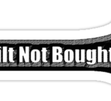 BIULT NOT BOUGHT wrench 000black Sticker