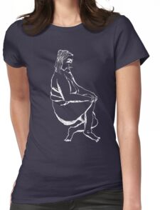 Sitting Womens Fitted T-Shirt