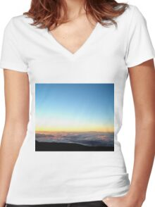 A River in the Clouds Women's Fitted V-Neck T-Shirt