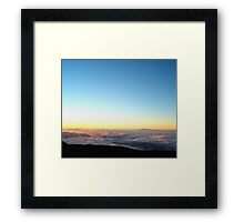 A River in the Clouds Framed Print