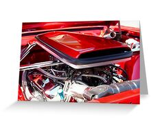 Candy Apple Red Horsepower - Ford Racing Engine Greeting Card
