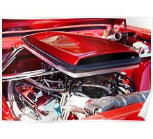 Candy Apple Red Horsepower - Ford Racing Engine Poster