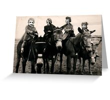 The Family of Masks Greeting Card