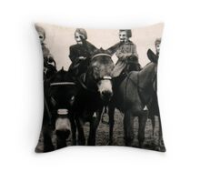 The Family of Masks Throw Pillow