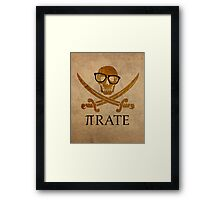 Pirate Humor Math Number Pi Nerd Poster Framed Print