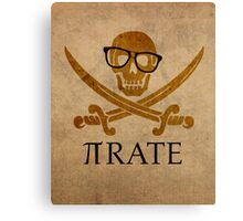Pirate Humor Math Number Pi Nerd Poster Canvas Print