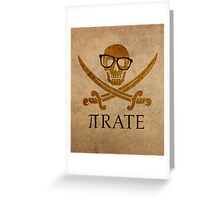 Pirate Humor Math Number Pi Nerd Poster Greeting Card